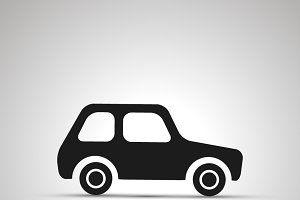 Car silhouette, side view icon