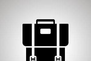 School backpack silhouette icon