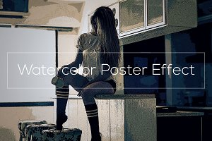 Watercolor Poster Effect