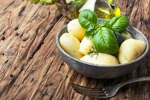 rustic boiled potatoes