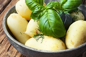 rustic boiled potatoes