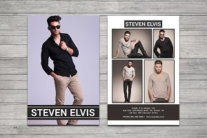 Professional Model Comp Card-V715