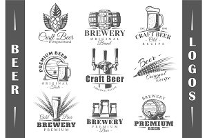 9 Beer Logos Templates Vol.1