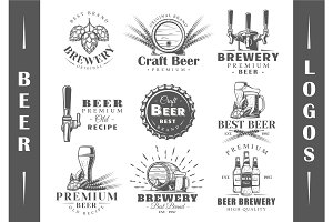 9 Beer Logos Templates Vol.2