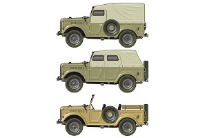retro jeep set