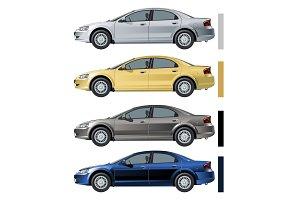 modern cars set