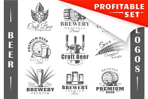 18 Beer Logos Templates