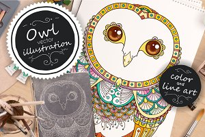 Zenart OWL vector illustration