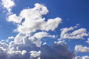 Clouds in sunny sky