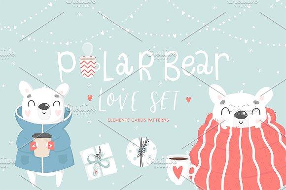 Polar Bear - LOVE set?-Graphicriver中文最全的素材分享平台