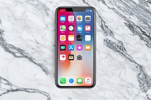 iPhone X, 8 and 7 Mockup • Sketch