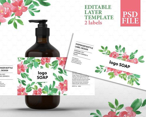 Soap label design template psd ~ Templates ~ Creative Market