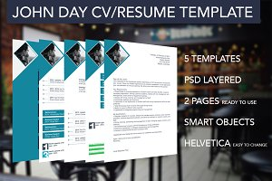 5 Multipurpose Resume/CV Templates
