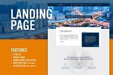 Premium Blue - Landing page (PSD)