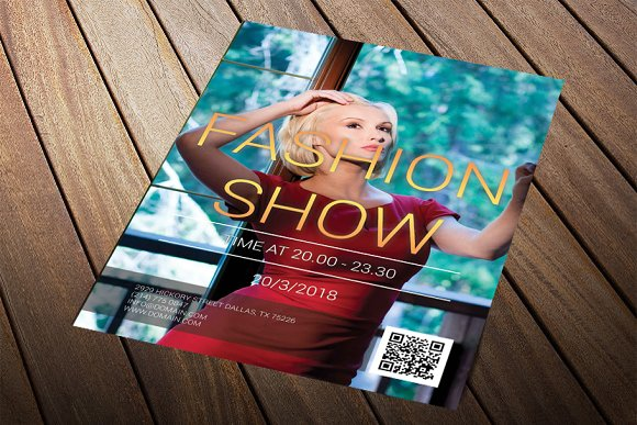 Fashion Show Flyer in Flyer Templates - product preview 1