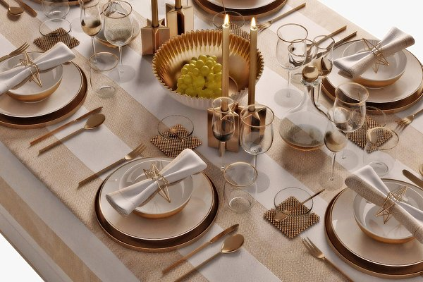 3D Models: 3dcruz - table setting 05