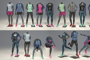 Female mannequin Nike FULL PACK