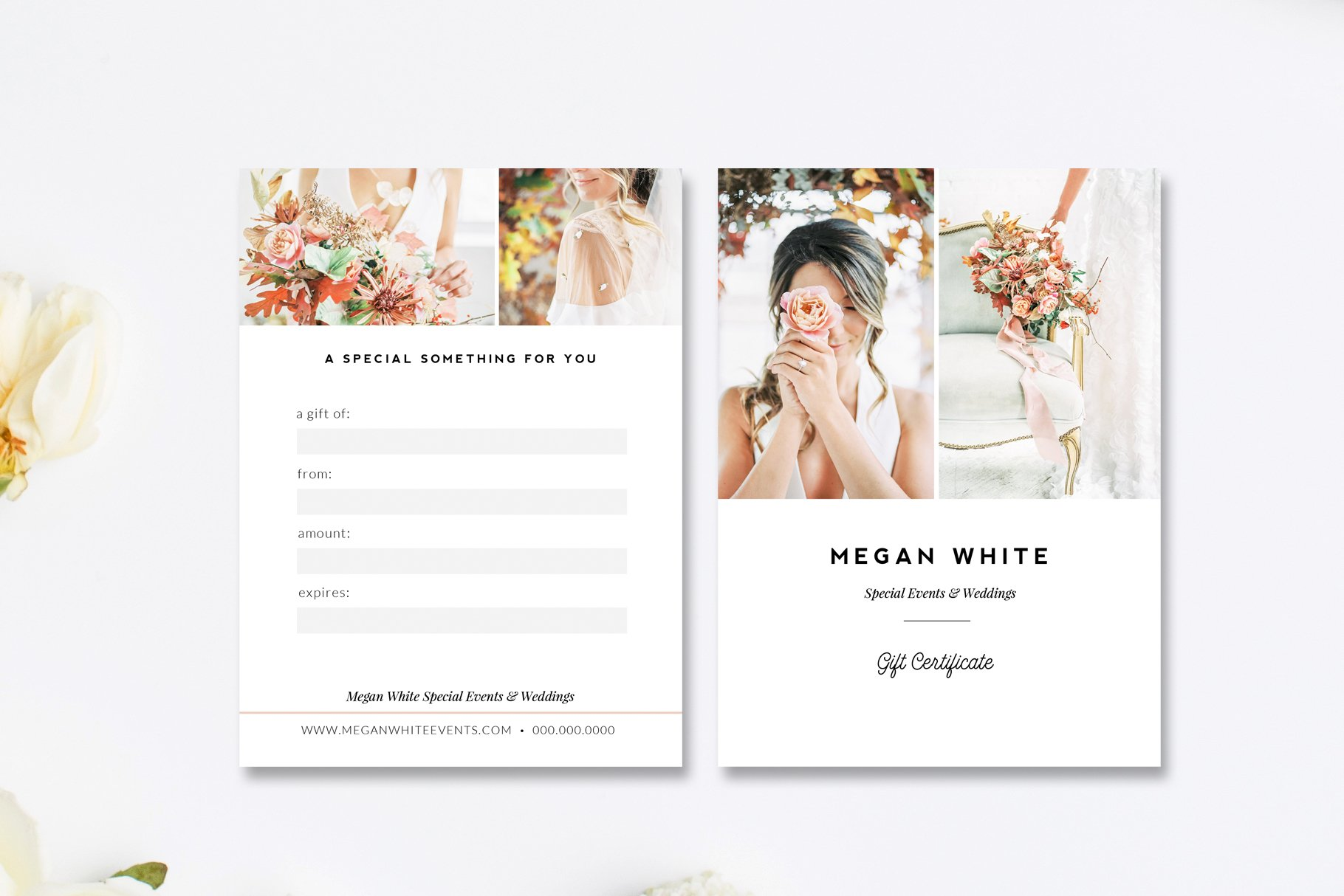 Wedding Planner Gift Card Template Card Templates Creative Market