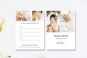 Wedding Planner Gift Card Template