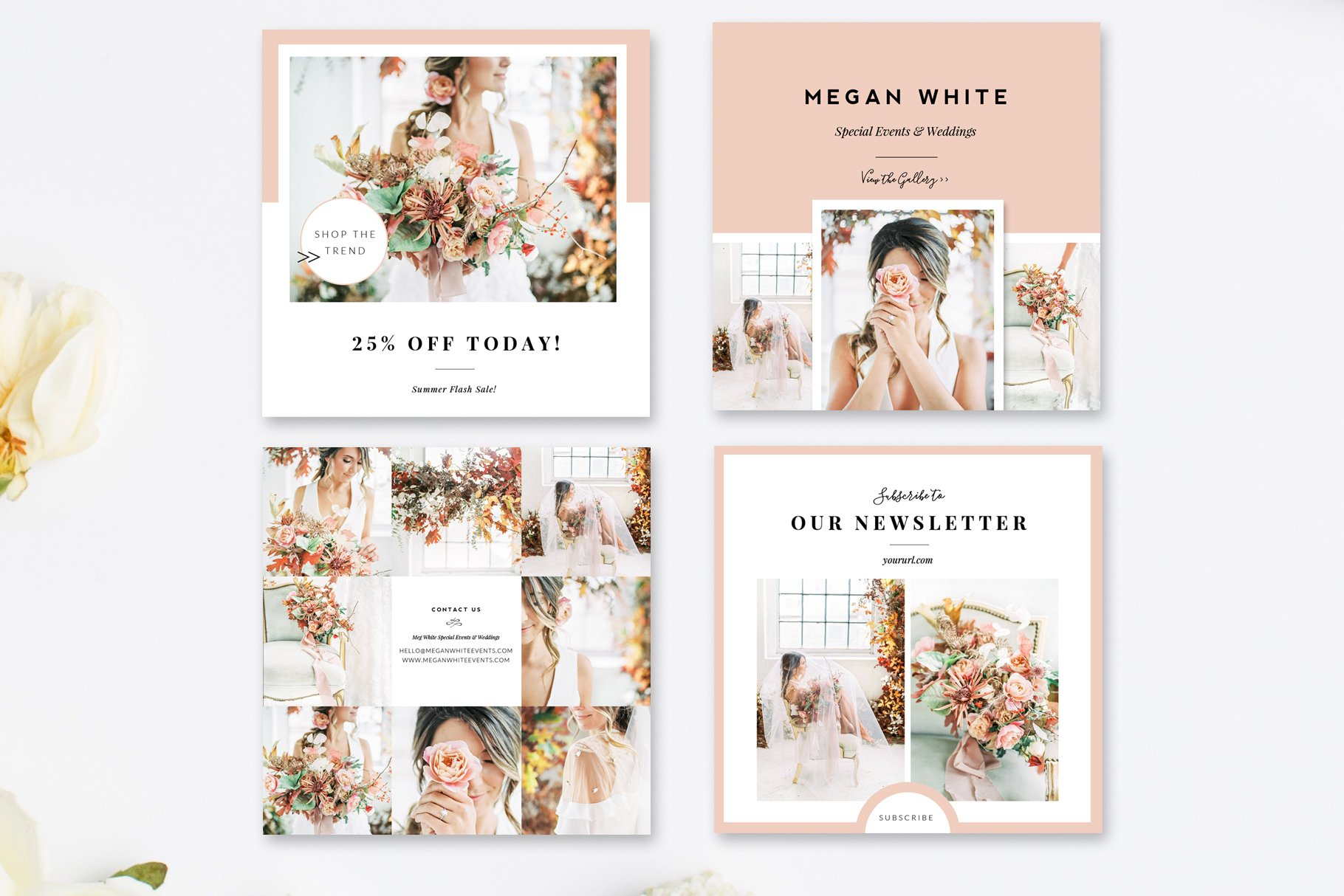 Instagram stories wedding template | free psd file.