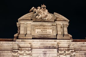 Puerta of Alcala in Madrid at night on Christmas time