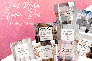 FASHION Social Media Graphic Pack