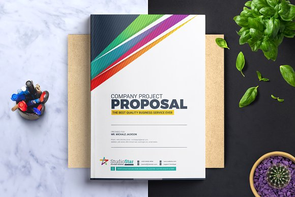 Project proposal template brochure templates creative market project proposal template brochures wajeb Images