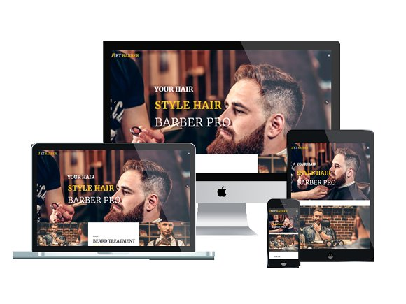 ET Barber Barber Website Template