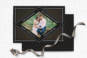 Art Deco Vintage Photo Save the Date