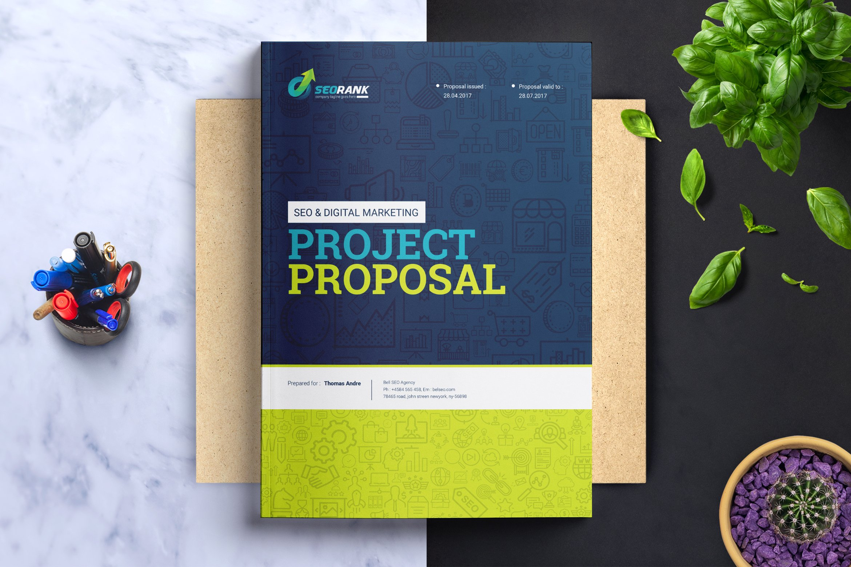 Seo digital marketing proposal brochure templates creative market maxwellsz