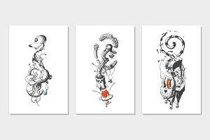 Surreal phantasmagoric illustrations
