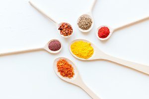 spoons with spices