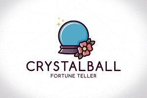 Crystal Ball Logo Template