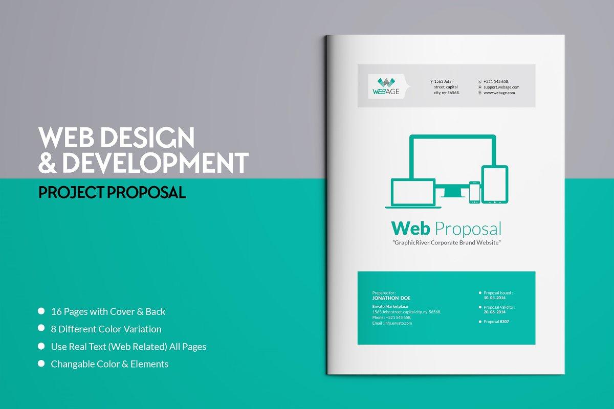 Website Proposal Template Brochure Templates Creative Market