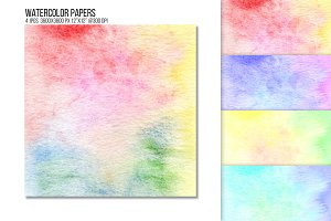 Rainbow watercolor paper texture.