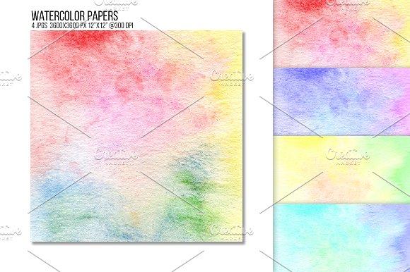 Rainbow Watercolor Paper Texture