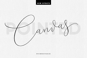 Canvas Pointed Script