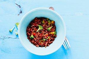 Rice and broccoli bowl