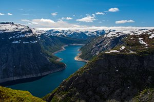 Amazing view from the Trolltunga