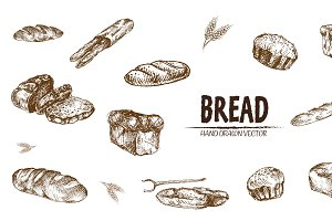 Bundle of 15 bread vectors set 5