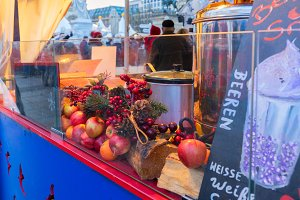 Mulled wine at christmas market