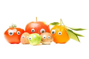 Funny Fruit And Vegetables With Eyes