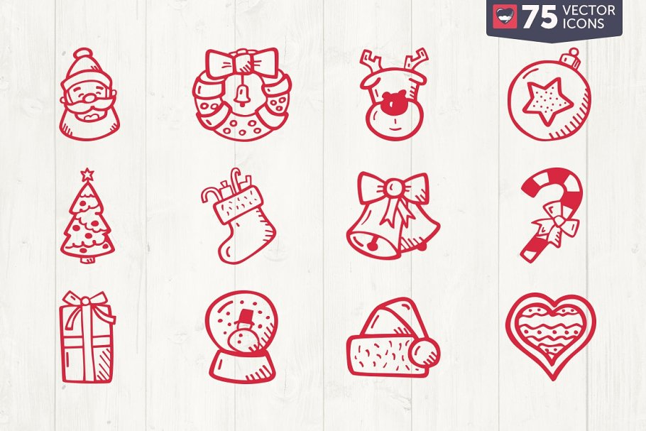 Christmas Hand Drawn Icons - Basic