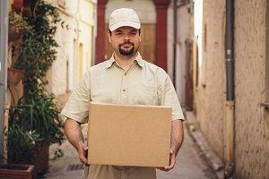 Messenger Delivering Parcel