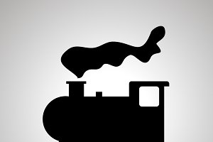 Locomotive silhouette icon