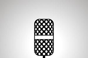 Microphone silhouette, simple icon