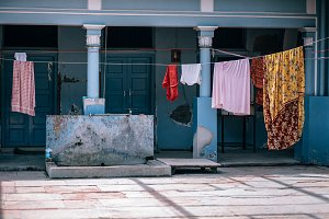 Retro Drying Clothes