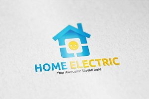Home Electric Logo Template