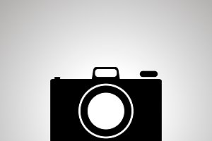 Photo camera silhouette, simple icon