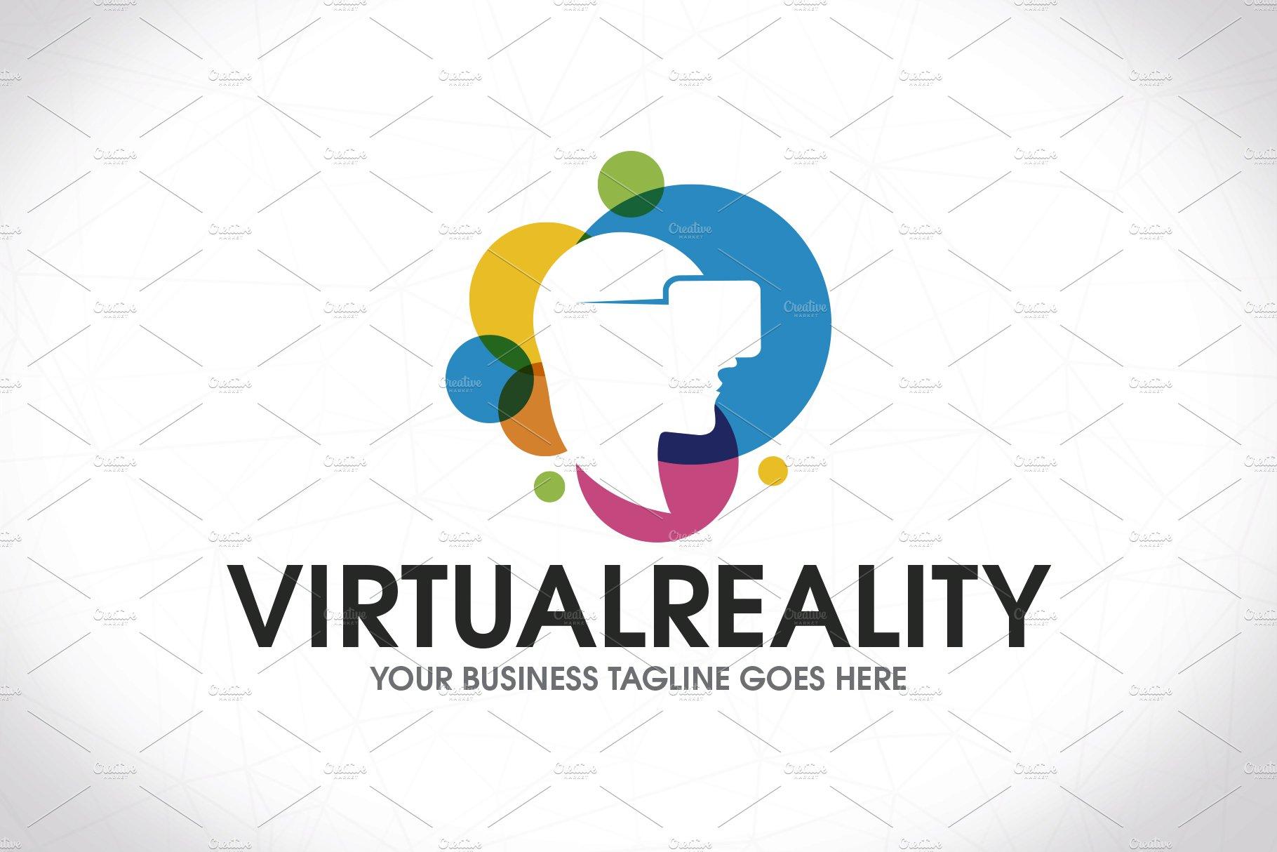 Virtual Reality Colorful Logo ~ Logo Templates ~ Creative ...  Virtual Reality...
